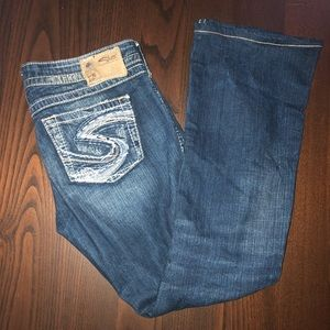 Silver Twisted Jeans
